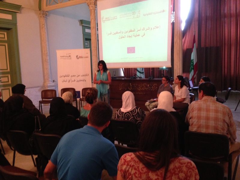 Abaad speaker at information meeting in Tripoli