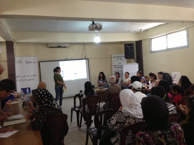 ACT speaker at information meeting in Shatila Camp